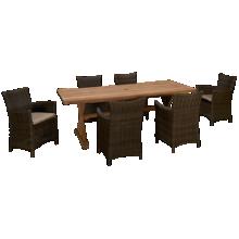 ScanCom Bagus 7 Piece Outdoor Dining Set