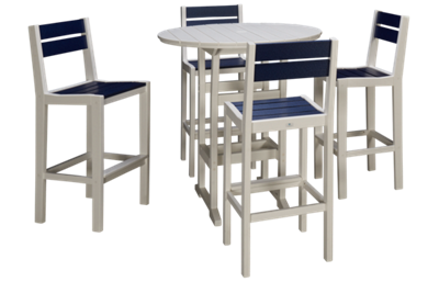 Seaside Casual Furniture Fusion 5 Piece Outdoor Cafe Dining Set