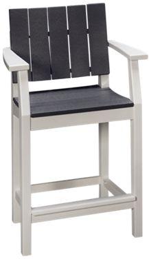Seaside Casual Furniture Modern Balcony Arm Chair with Slats