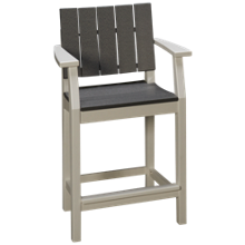 Seaside Casual Furniture Modern Balcony Arm Chair with Slats