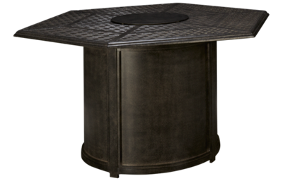 Agio International Madison Hexagon Fire Pit Table