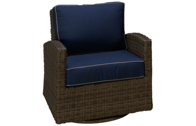 NorthCape Bainbridge Swivel Glider Club Chair with Cushions
