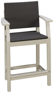 Seaside Casual Furniture Modern Balcony Arm Chair with Weave