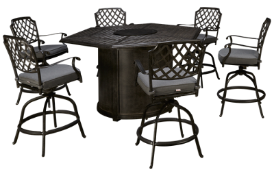 Agio International Madison 7 Piece Fire Pit Table