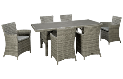 ScanCom Aruba 7 Piece Outdoor Dining Set