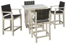 Seaside Casual Furniture Modern 5 Piece Outdoor Dining Set