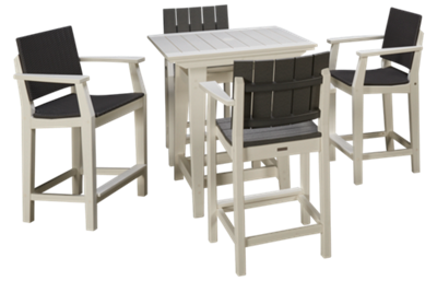 Seaside Casual Furniture Modern 5 Piece Outdoor Dining