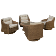 NorthCape Cambria 5 Piece Outdoor Chat Set