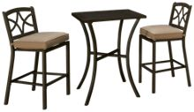 Agio International Davenport 3 Piece Outdoor Bar Set