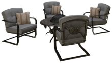 Agio International Madison Wood Burning Fire Pit with 4 Chairs