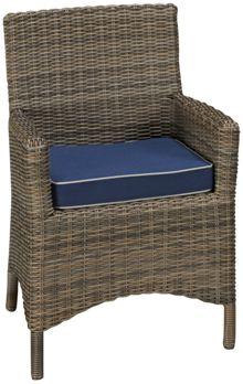 NorthCape Bainbridge Outdoor Dining Arm Chair with Cushion