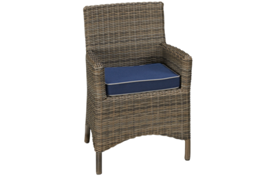 NorthCape Bainbridge Outdoor Dining Arm Chair with Cushion