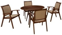 Jensen Leisure Opal 5 Piece Outdoor Dining Set