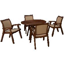 Jensen Leisure Opal 5 Piece Outdoor Dining Set