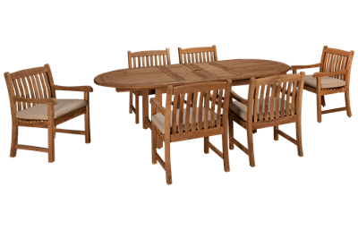 ScanCom Kalimantan 7 Piece Outdoor Dining Set