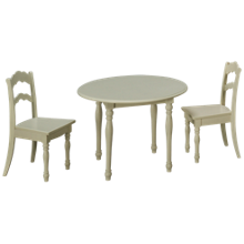 L Powell Company Accent Table with 2 Chairs