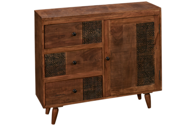 Jofran Urban Village 3 Drawer 1 Door Chest