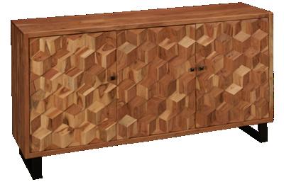 Jofran Geometrix 3 Door Cabinet