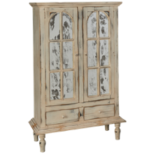 Horizon Vencia 2 Drawer 2 Door Curio Cabinet
