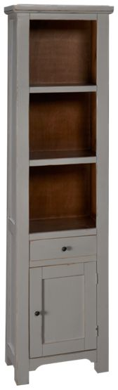 International Furniture Direct Rivera 1 Drawer 1 Door Bookcase