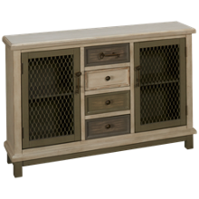 Coast To Coast Imports Keystone 2 Door 4 Drawer Credenza