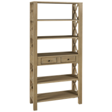 Coast To Coast Imports Barrister Bookcase One Drawer