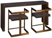 Coast To Coast Imports Estate Console Table with 2 Stools