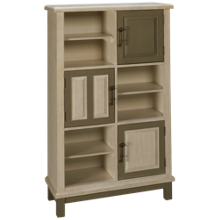 Coast To Coast Imports Keystone 3 Door Bookcase