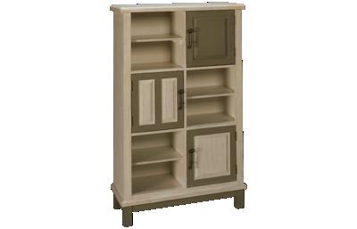 Coast To Coast Imports Keystone 3 Door Bookcase