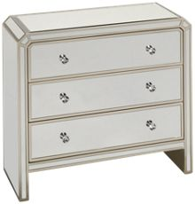 Coast To Coast Imports Champagne 3 Drawer Chest