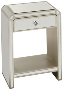 Coast To Coast Imports Champagne Reflections Chairside Table