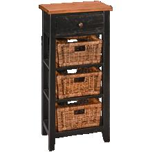 Sunny Designs Metroflex Storage Rack With 3 Baskets