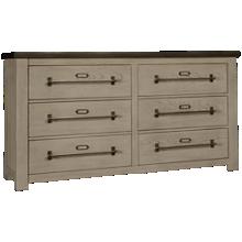 Accentrics Home Modern Authentics Metal Top 6 Drawer Dresser