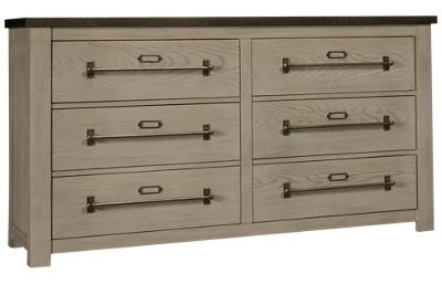 Accentrics Home Modern Authentics Metal Top 6 Drawer Dresser