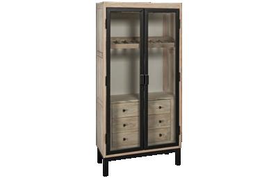Accentrics Home Modern Authentics Metal Door Bar Cabinet