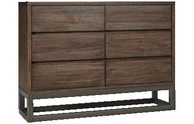 Accentrics Home Modern Authentics 6 Drawer Industrial Dresser