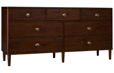 Accentrics Home Urban Eclectic Knotty Walnut Dresser