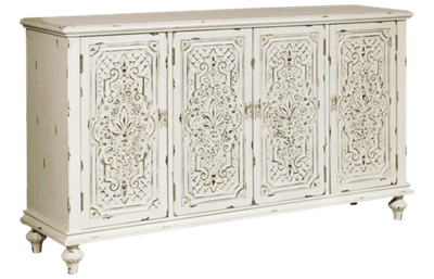 Accentrics Home Ornate 4 Door Credenza