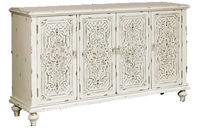 Accentrics Home Ornate 4 Door Credenza