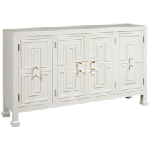 Accentrics Home Geometric 4 Door Credenza