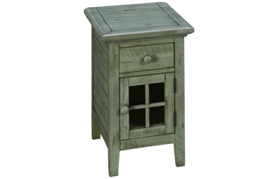 Jofran Rustic Shores Accent Table with Charging Station