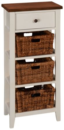 Sunny Designs Metroflex Storage Rack With 3 Baskets