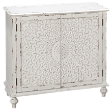 Accentrics Home Small Spaces 2 Door Carved Front Chest