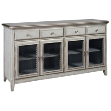 Accentrics Home 4 Door Farmhouse Credenza