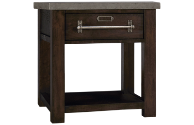 Accentrics Home Modern Authentics Metal Top Side Table
