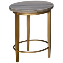 Accentrics Home Urban Eclectic Marble Top Side Table