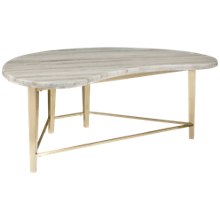 Accentrics Home Urban Eclectic Shaped Marble Top Cocktail Table