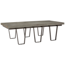 Accentrics Home Modern Authentics Concrete Top Coffee Table