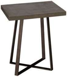 Accentrics Home Modern Authentics Concrete Top End Table
