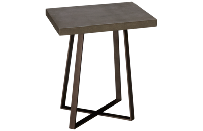 Accentrics Home Modern Authentics Concrete Top End Table
